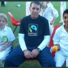 Healthy young cricketers supporting Fairtrade